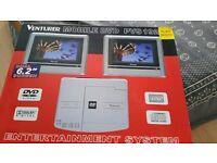 "Venturer Mobile DVD Player, Dual 6.2"" Screen, Dolby Digital"