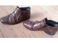 WOMAN'S BROWN RIEKER ANKLE BOOTS SIZE 6