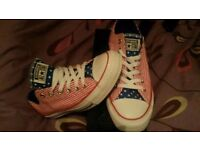 RRP £56 American flag converse brand new with box ladies size 6