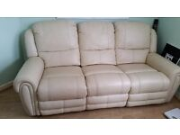 Double reclining large leather sofa cost over £1600
