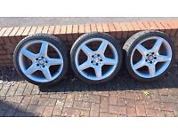 Mercedes AMG 18 inch Alloy wheels with tyres 3 available