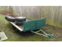 TRAILER , 4 wheel , flat bed