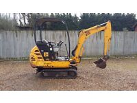 JCB 801.5 1.5 tonne mini digger 2004 Solid digger 2 speed tracking