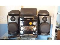 PHILLIPS FW-P750, STEREO, 3 CD CHANGER, MINI HIFI SYSTEM AND SURROUND SOUND