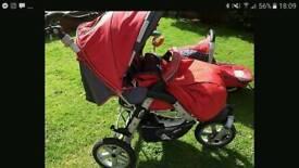 Jane pram, car seat and nappy bag