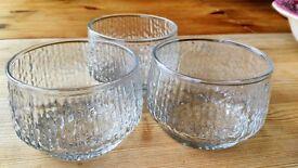 Set of 3 Vintage Stackable Glass Bowls/Cups