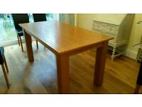 Oak dining table, solid wood