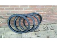 "4 26"" mountain bike tyres. 2 kenda 2 standard. Hardly used"