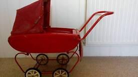 Red vintage pram very cheap!