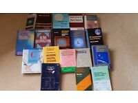 Bundle of 2ND hand Electronic Engineering textbooks.Good condition