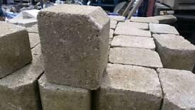 Reclaimed buff block paving edging blocks