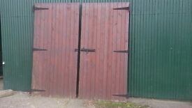 Wooden doors for shed