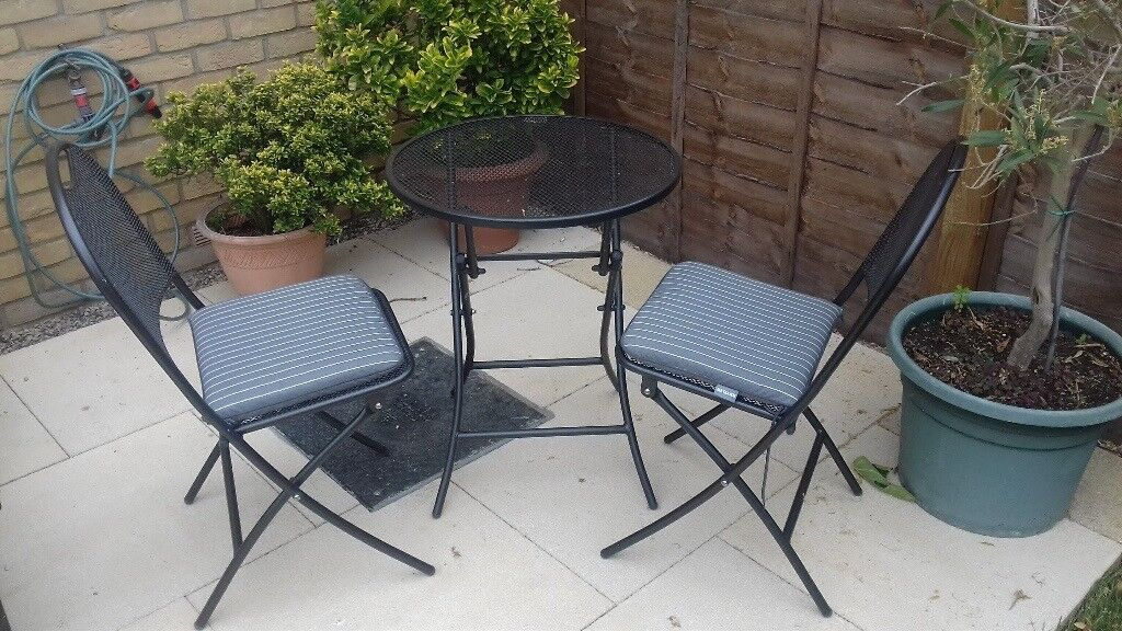 Kettler Caffe Napoli Bistro Set Weather Proof Small Garden Table And Two Chairs