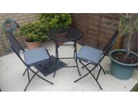 Kettler Caffe Napoli Bistro Set - Weather proof small garden table and two chairs