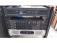 DJ Speakers, Amps Amps Mixer