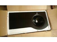 Glass vanity basin