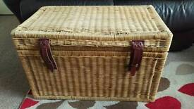 Wicker chest, ideal for storage / toy box