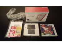 Nintendo 2ds. Red/White. Like new with Pokemon Y