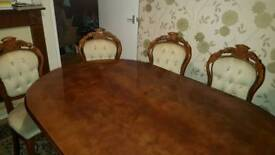 Italia dining table &4 chairs