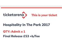 1x Hospitality in the Park ticket