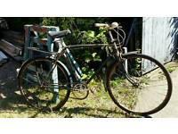vintage triumph push bike cycle. Ideal for restoration.