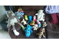 Collection of 14 good-quality cuddly toys