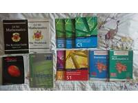 GCSE and A-level Mathematics text books and revision guides