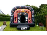 Bouncy castle disco dome ( new )