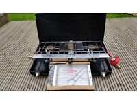 Double Gas Burner and Grill Camping Stove