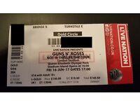 Guns n Roses - GOLDEN CIRLCE - Not in this Lifetime Tour Fri 16th June