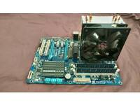 Motherboard, 6 core CPU, 8GB RAM, PSUand cooler bundle