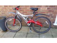 Hardly used mountain bike.