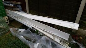Free to collector - long lengths of UPVC fascia/soffit board and associated bits, paving slabs