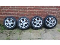 Volvo V50 4x alloy wheel with tyres