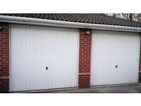 £120.00 for 2 Garage doors, Powder Coated Henderson up and over garage doors & frames 4 point locks