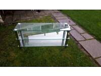 3 tier glass tv stand large