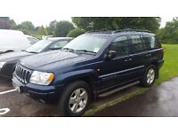Jeep Grand Cherekee 4.7ltr petrol and lpg