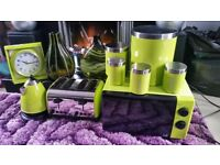 Lime green kitchen appliances. Very good condition and well looked after