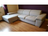 Delivery 1-10 days PELLE Italian Corner Sofa Bed Sofa Leather Brand New Bed Function