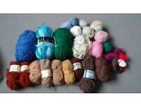Large bundle of knitting wool