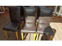 6 Dinning table chairs