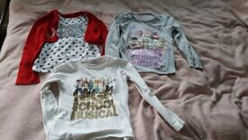 3 tops with long sleeved High School Musical 7-9 yrs