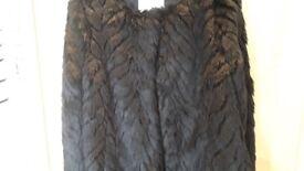 Black Faux Fur Ladies Coat