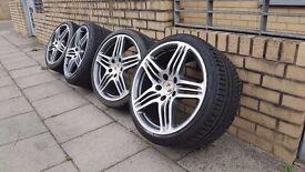 Porsche 911 996 alloy wheels 19inc alloys with good tyres