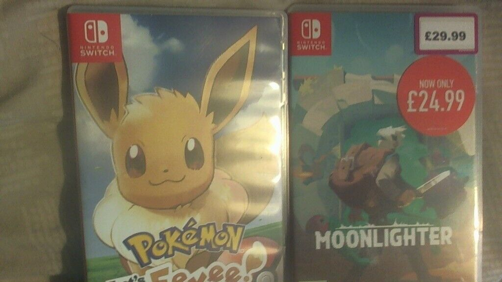 Nintendo Switch _ Grey + Pokemon Let's Go Eevee and Moonlighter (Collection  Only) | in Epworth, South Yorkshire | Gumtree