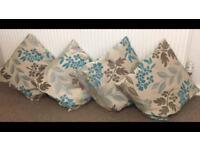 4x teal cushions with inserts collect Bitterne or park gate