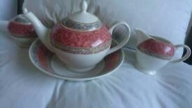 teapot, milk jug, sugar bowl and large bowl