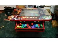 New built retro arcade table.