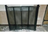 FIRE GUARD WOODBURNER HEARTH SCREEN HEAVY! DUTY! WALL MOUNTED MESH DOORS BEAUTIFULL! 40'' H X 44'' W