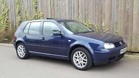 VW VOLKSWAGEN GOLF GTI GT TDI 1.9 DIESEL [150] 5DR HATCHBACK 2002 [52] BLUE